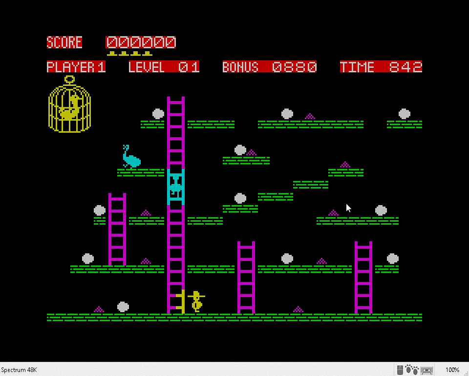 Chuckie Egg on ZX Spectrum