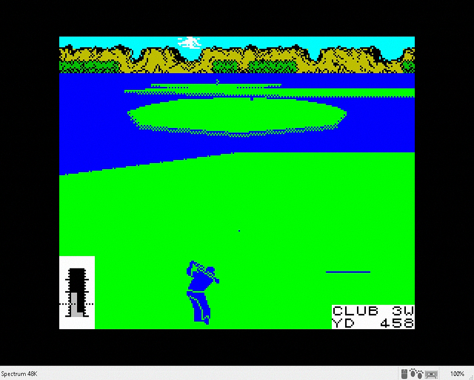 Leaderboard on ZX spectrum screenshot